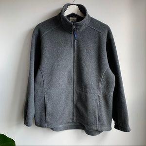 L.L. Bean charcoal grey zip up fleece EUC size L